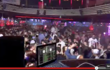 Spinning at club Naked in Germany